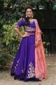 Actress Shraddha Srinath in Purple Lehenga Dress Stills