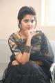 Telugu Actress Sravya in Black Saree Photos