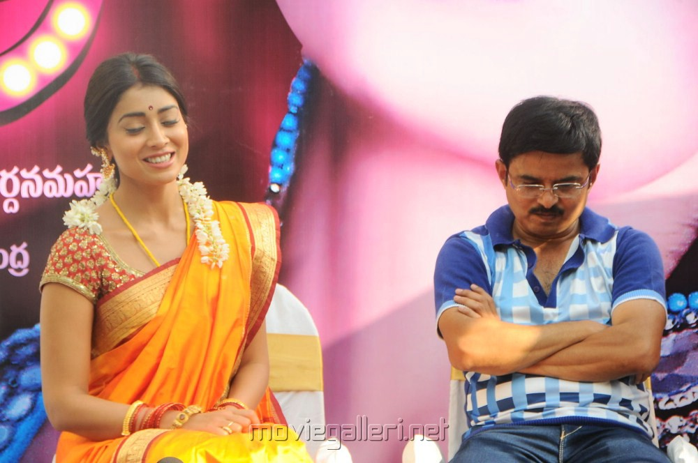 Shriya Saran, Janardhan Maharshi at Pavitra Movie Opening Stills