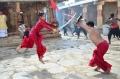 Prem, Shriya Saran Kalari Fight Photos in Chandra Movie