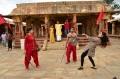 Shriya Saran Performs Kalari In Chandra