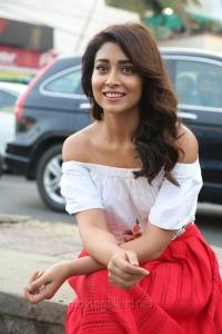 Actress Shriya Saran Photoshoot on Hyderabad Road for Paisa Vasool Movie Promotions