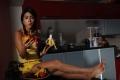 Actress Shriya Saran Hot Yellow Dress Pictures in Kitchen Room