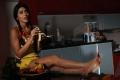 Actress Shriya Saran Hot New Pictures in Sleeveless Yellow Top & Yellow Shorts