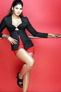 Shruthi Reddy in Red Shorts Hot Photoshoot Stills