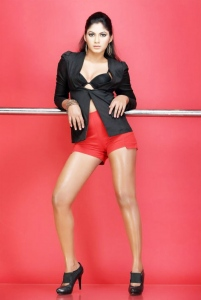 Actress Shruthi Reddy Hot Photoshoot Stills in Red Shorts