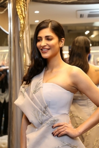Actress Shruti Haasan Pics @ Gaurav Gupta Fashion Store Launch