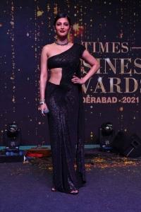 Actress Shruti Hassan Pics @ Times Business Awards 2021 Hyderabad