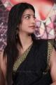 Actress Shruti Haasan Black Saree Photos @ Poojai Press Meet