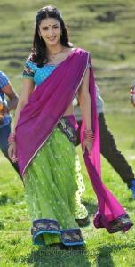 Gabbar Singh Shruti Hassan Hot Saree Stills