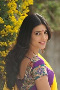 Shruti Hassan Hot Stills in Saree from Gabbar Singh