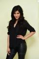 Actress Shruti Hassan in Black Shirt & Leather Pants Photos