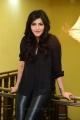 Actress Shruti Hassan in Black Tight Leather Pants Photos