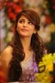 Actress Shruti Hassan Cute Photos in Violet Designer Saree