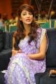 Actress Shruthi Hassan in Violet Designer Saree Cute Photos