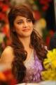 Actress Shruti Hassan in Violet Designer Saree Cute Photos