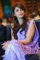 Actress Shruti Hassan Cute Photos in Purple Designer Saree