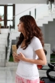 Actress Shruti Hassan in White Top Dress Pictures