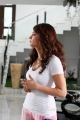 Actress Shruti Hassan New Pictures in White Tight T Shirt