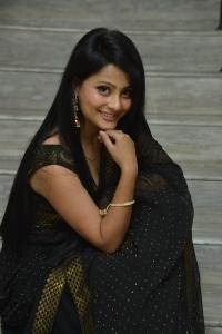 Telugu Actress Shubhangi Pant in Black Saree Pics