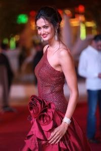Actress Shubra Aiyappa Hot Stills in Red Dress