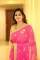 Actress Swetha Jadhav in Pink Saree Pictures