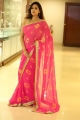 Actress Shweta Jadhav in Pink Saree Pictures