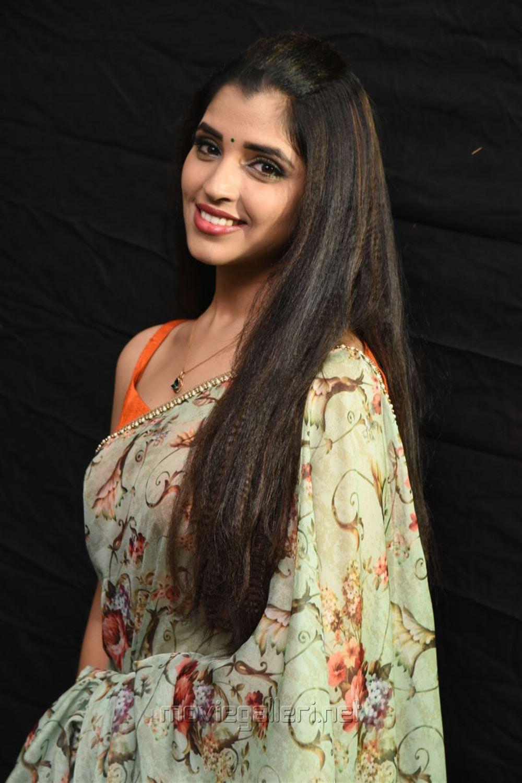 Anchor Shyamala Saree Photos @ Kavacham Movie Audio Launch