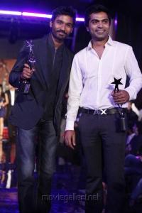 Dhanush, Simbu at South Indian International Movie Awards 2012 Photos