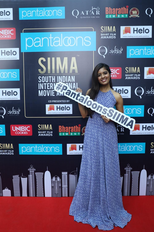 Amritha Aiyer @ Pantaloons SIIMA 2019 Chennai Press Meet Stills
