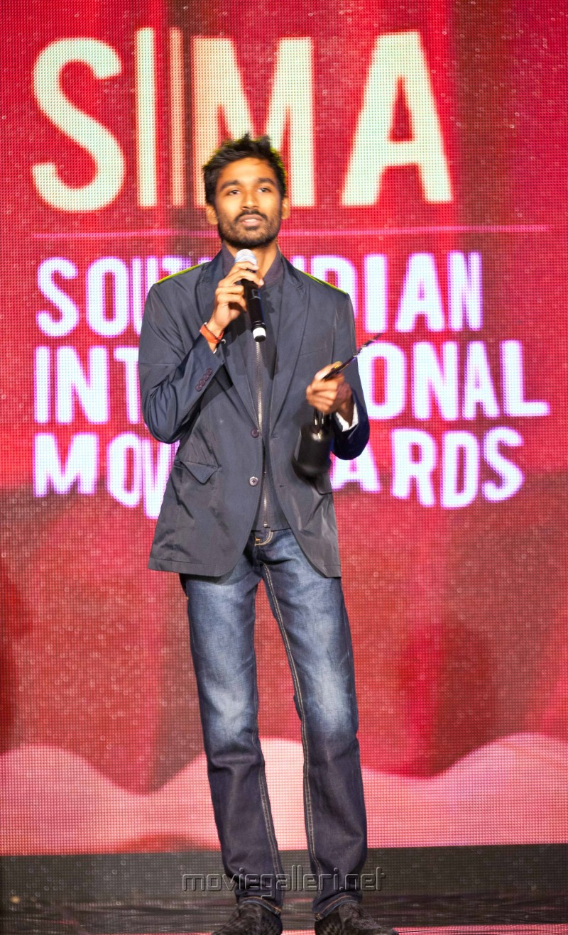 Actor Dhanush at SIIMA Awards 2012 in Dubai Day1 Stills