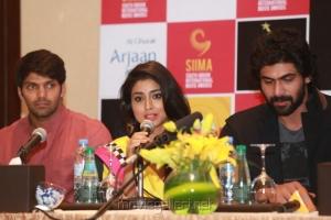 Arya, Shriya, Rana at SIIMA Awards 2013 Announcement Stills