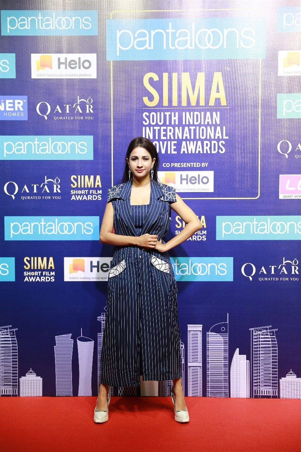 Manvitha Kamath @ SIIMA Short Film Awards 2019 Press Meet Stills