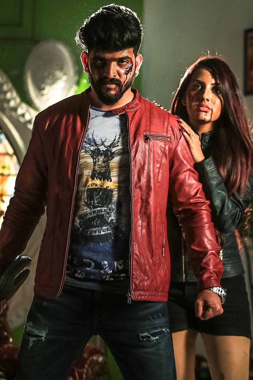 Roopesh Shetty, Aradhya Shetty in Silence Please Movie Stills