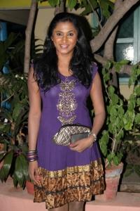 Actress Puvisha @ Sillunu Oru Payanam Movie Audio Launch Stills