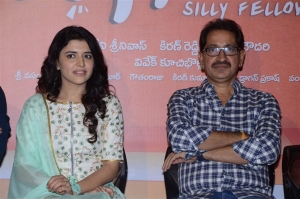 Chitra Shukla, Bheemaneni Srinivasa Rao @ Silly Fellows Movie First Look Launch Stills
