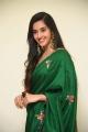 Actress Simrat Kaur Green Saree Pics @ My South Diva Calendar 2021 Launch