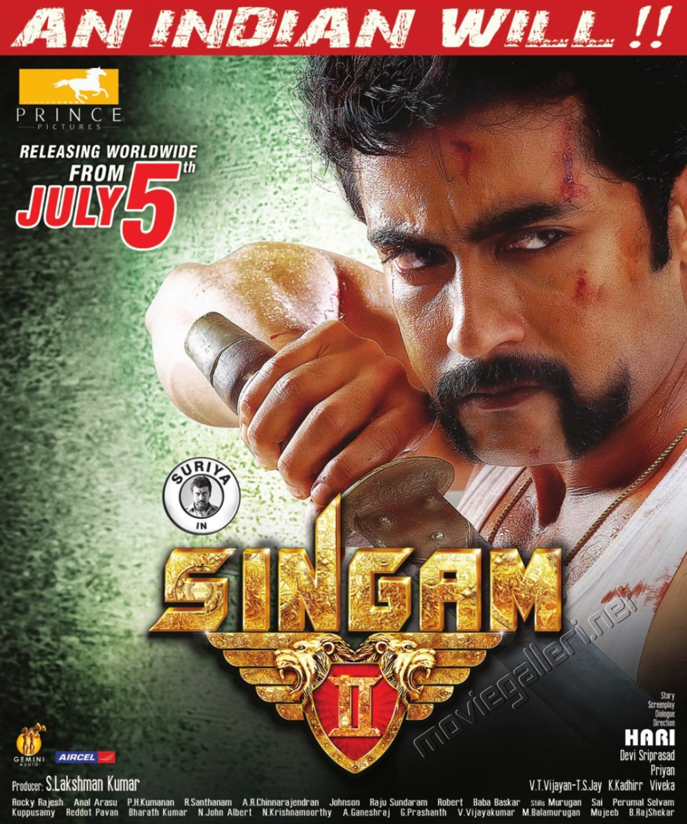 Picture 507795   Actor Surya in Singam 2 Movie Release ... Singam 2 Poster Anushka