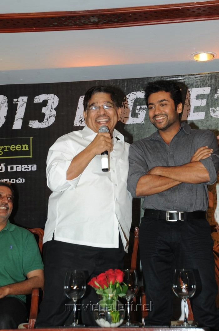 Suriya, Allu Aravind at Singam (Yamudu-2) Success Meet Stills