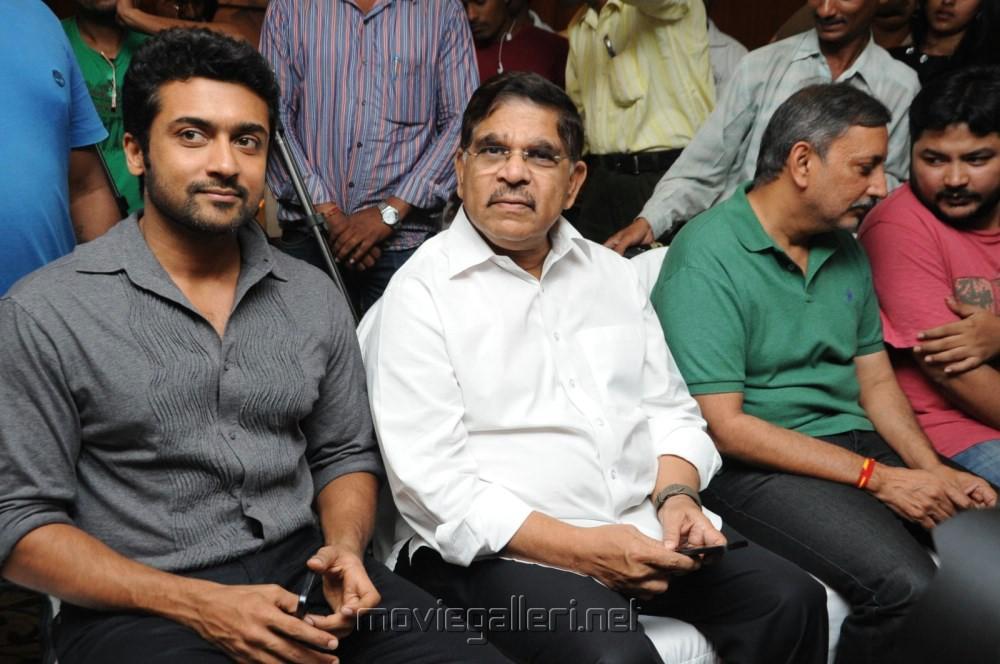 Allu Aravind, Suriya at Singam (Yamudu-2) Success Meet Stills