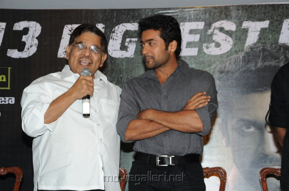 Allu Aravind, Suriya at Singam (Yamudu-2) Success Meet Stills