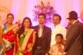 MK Stalin at Singer MK Balaji Priyanka Wedding Reception Photos