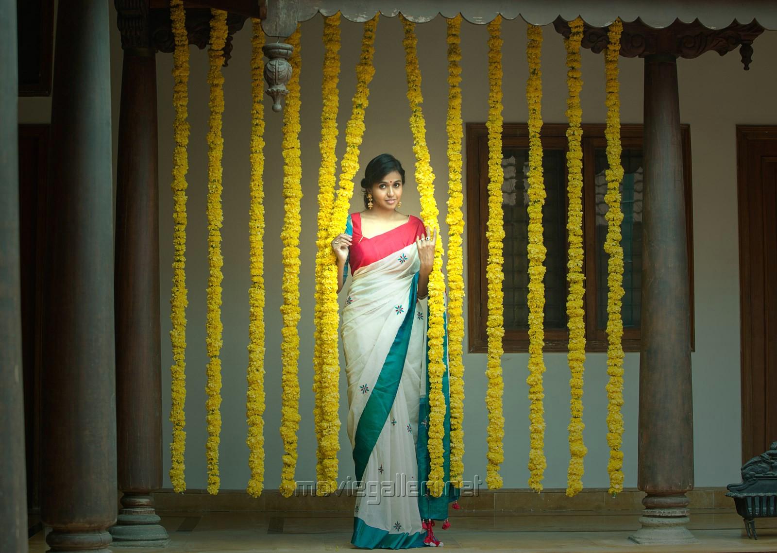 Singer Smitha in Saree Photoshoot Stills for Aalayam Navaratri festival