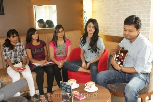 Mirchi Suchitra at The Lounge Journals in Cafe Coffee Day Lounge
