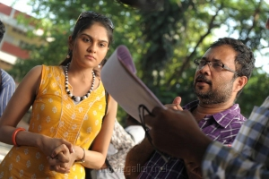 Vibha Natarajan, Saravanan at Sippai Movie On Location Photos