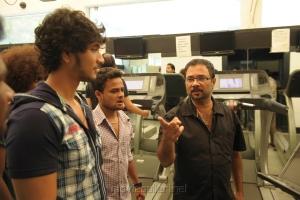 Gautham Karthik, Sarvanan at Sippai Movie On Location Photos