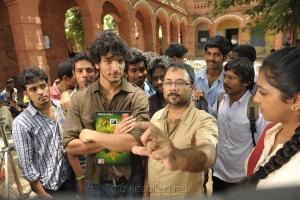 Gautham Karthik, Saravanan at Sippai Movie On Location Photos