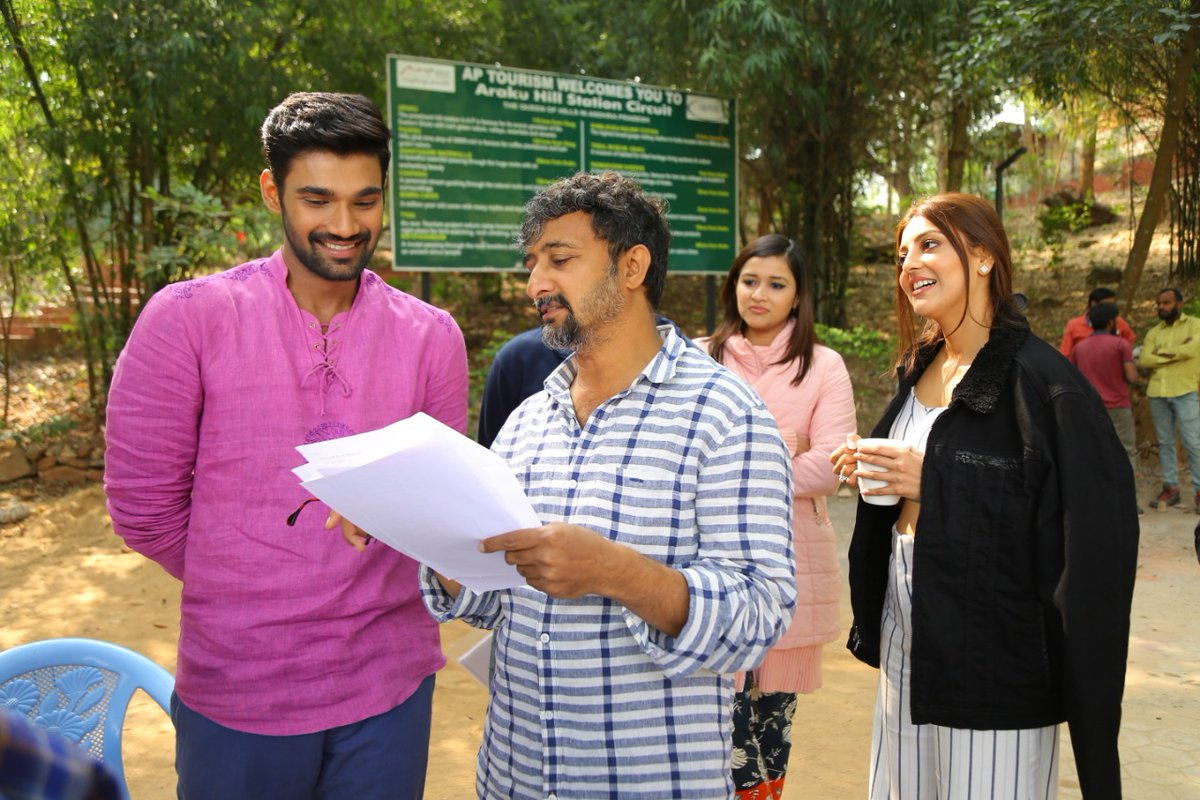 Bellamkonda Sreenivas, Teja, Kajal @ Sita Movie Working Stills