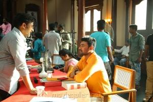 Teja, Sonu Sood, Bellamkonda Sai Sreenivas @ Sita Movie Working Stills