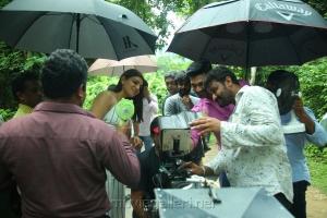 Kajal Agarwal, Bellamkonda Srinivas, Teja @ Sita Movie Working Stills